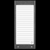 ACO CDN-17NACC GR Podświetlany panel listy lokatorów (ok. 17 wpisów)