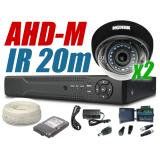 Zestaw monitoringu ahd 2 kamery 720P