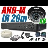 Zestaw monitoringu ahd 8 kamer 720P