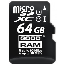 KARTA PAMIĘCI MICRO SD GOODRAM UHS1 CL10 U3 64GB + ADAPTER