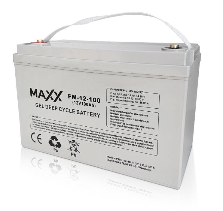 Akumulator żelowy Maxx 120Ah do paneli fotowoltaicznych