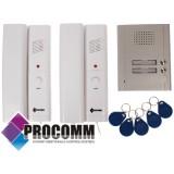 DOMOFON PROCOMM QH-0862 ID 2-RODZINNY