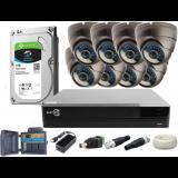 Zestaw EASYCAM AHD CVI TVI ANALOG 8x Kamera HD 720P Rejestrator HDD 1TB