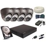 Zestaw AHD, 4x Kamera HD/IR20, Rejestrator 4ch + 1TB