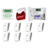 Zestaw alarmowy SATEL Integra 32, Klawiatura LCD, 7 czujek ruchu PET, sygnalizator wewnętrzny