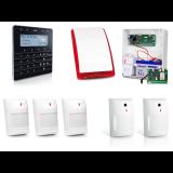 Zestaw alarmowy SATEL Integra 24, Klawiatura sensoryczna, 3 czujniki ruchu, 2 czujniki ruchu i stłuczenia szkła, sygnalizator zewnętrzny SP-4001