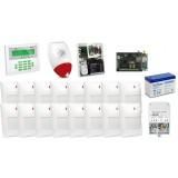Zestaw alarmowy SATEL Integra 64 LCD, 16 czujek, sygnalizator zewnętrzny, powiadomienie SMS