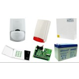 Alarm Satel CA-4 LED, 3xLC-100 PI, syg. zew. Beewell