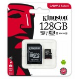Karta pamięci Kingston Canvas Select 128GB microSDXC  CL10 UHS-I Card + SD Adapter