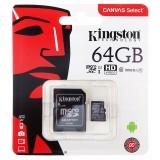 Karta pamięci Kingston Canvas Select 64GB microSDXC  CL10 UHS-I Card + SD Adapter