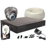 Zestaw 4w1 1x Kamera FULLHD/IR20m, Rejestrator 4ch+HDD 500GB