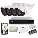 Zestaw monitoringu IP EASYCAM 4 kamery HD 720P REJESTRATOR HDD 1TB