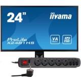 """Monitor LED IIYAMA X2481HS-B1 24"""" + Listwa antyprzepięciowa"""