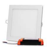 Plafon LED kwadratowy podtynkowy aluminiowa obudowa 12W 3000K (ciepły biały)
