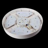 OUTLET: Plafon natynkowy okrągły IP44 12W 800 lm plastikowy biały (OUTLET)