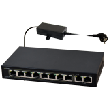 SWITCH POE PULSAR S108 10-PORTÓW (8xPoE + 2xUPLINK)  IEEE 802.3af/at, 48VDC / 30W/port (PoE+)