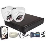 Zestaw AHD, 2x Kamera HD/IR25, Rejestrator 4ch + 500GB