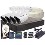 Zestaw AHD, 4x Kamera FullHD/IR25, Rejestrator 4ch + 2TB