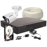 Zestaw 4w1 1x Kamera FullHD/IR25m, Rejestrator 4ch+HDD 500GB