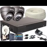Zestaw 4w1, 2x Kamera 5Mpx/IR20, Rejestrator 4ch + Dysk 500GB
