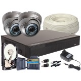 Zestaw 4w1, 2x Kamera FULL HD/IR35, Rejestrator 4ch, HDD 1TB