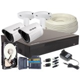 Zestaw 4w1, 2x KameraFULL HD/IR25, Rejestrator 4ch, HDD 500GB