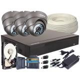 Zestaw 4w1, 3x Kamera FULL HD/IR20, Rejestrator 4ch, HDD 1TB