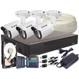 Zestaw 4w1, 3x Kamera FULL HD/IR25, Rejestrator 4ch, HDD 1TB