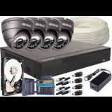Zestaw 4w1, 4x Kamera 5Mpx/IR20, Rejestrator 4ch + Dysk 500GB