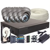 Zestaw 4w1, 4x Kamera FULL HD/IR20, Rejestrator 4ch, HDD 500GB
