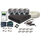 Zestaw 4w1, 4x Kamera FULL HD/IR25, Rejestrator 4ch, HDD 1TB