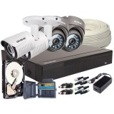 Zestaw 4w1 4x Kamera FULLHD/, Rejestrator 4ch + HDD 2TB