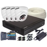 Zestaw 4w1, 4x Kamera HD/IR25, Rejestrator 4ch