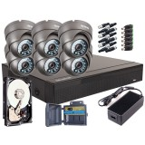 Zestaw 4w1, 6x Kamera FULL HD/IR20, Rejestrator 8ch, HDD 1TB