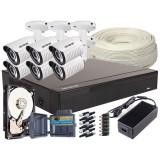 Zestaw 4w1, 6x Kamera FULL HD/IR25, Rejestrator 8ch, HDD 1TB