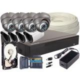 Zestaw 4w1, 8x Kamera FULL HD/IR20-25, Rejestrator 8ch, HDD 2TB