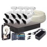 Zestaw 4w1, 8x Kamera FULL HD/IR25, Rejestrator 8ch, HDD 4TB