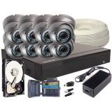 Zestaw 4w1, 8x Kamera FULL HD/IR35, Rejestrator 8ch, HDD 1TB