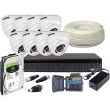 Zestaw 4w1, 8x Kamera HD/IR20, Rejestrator 8ch + 1TB