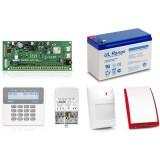 Zestaw alarmowy SATEL PERFECTA 16, Klawiatura LCD, 1 czujnik ruchu, sygnalizator zewnętrzny SP-4001, powiadomienie GSM