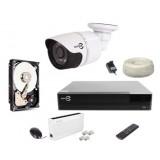 Zestaw monitoringu EASYCAM IP 1 kamera HD 720P REJESTRATOR HDD 1TB