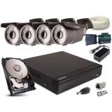 Zestaw AHD, 4x Kamera HD/IR60, Rejestrator 4ch + 1TB