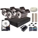 Zestaw AHD, 4x Kamera HD/IR35, Rejestrator 4ch + 1TB