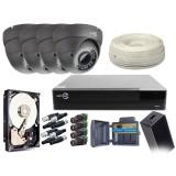ZESTAW MONITORINGU EASYCAM AHD CVI TVI ANALOG 4x kamera HD 720P Rejestrator HDD 1TB Z947