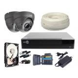 ZESTAW MONITORINGU EASYCAM AHD CVI TVI ANALOG 2x kamera HD 720p Rejestrator HDD 1TB Z948