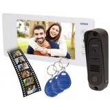 """Wideodomofon OR-VID-JS-1053/W Pamięć + Breloki ARCUS RFID 7"""" biały Biały"""