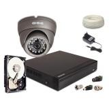 Zestaw AHD, 1x Kamera HD/IR20, Rejestrator 4ch + 500GB