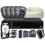 Zestaw CCTV, 4x Kamera HD/IR20, Rejestrator 4k. + 1TB