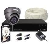 Zestaw CCTV, 1x Kamera HD/IR20, Rejestrator 4k. + 1TB
