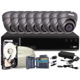 Zestaw CCTV, 8x Kamera HD/IR20, Rejestrator 8k. + 1TB